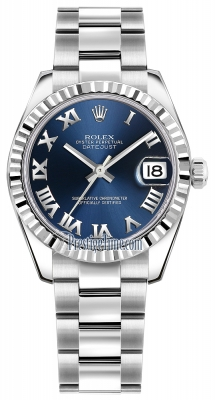 Rolex Datejust 31mm Stainless Steel 178274 Blue Roman Oyster