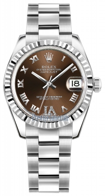 Rolex Datejust 31mm Stainless Steel 178274 Bronze VI Roman Oyster