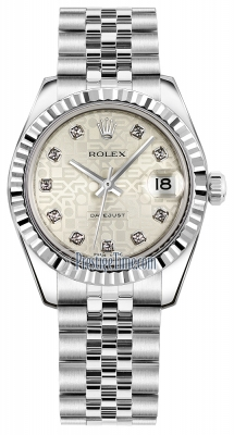 Rolex Datejust 31mm Stainless Steel 178274 Jubilee Silver Diamond Jubilee