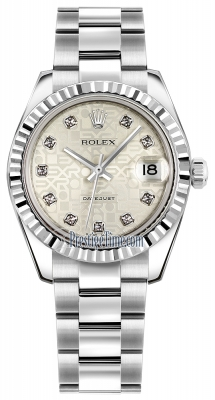 Rolex Datejust 31mm Stainless Steel 178274 Jubilee Silver Diamond Oyster