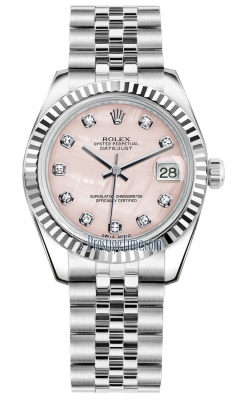 Rolex Datejust 31mm Stainless Steel 178274 Pink MOP Diamond Jubilee