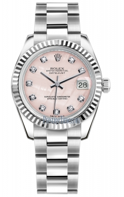Rolex Datejust 31mm Stainless Steel 178274 Pink MOP Diamond Oyster