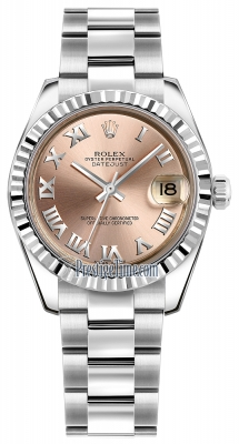 Rolex Datejust 31mm Stainless Steel 178274 Pink Roman Oyster