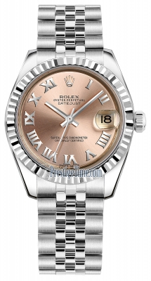 Rolex Datejust 31mm Stainless Steel 178274 Pink Roman Jubilee