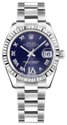 Rolex Datejust 31mm Stainless Steel 178274 Purple VI Roman Oyster