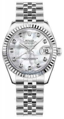 Rolex Datejust 31mm Stainless Steel 178274 White MOP Diamond Jubilee