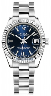 Rolex Datejust 31mm Stainless Steel 178274 Blue Index Oyster
