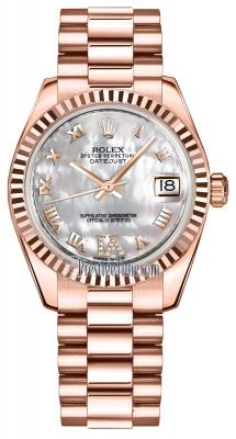 Rolex Datejust 31mm Everose Gold 178275 MOP VI Roman President