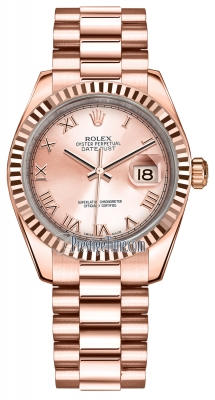 Rolex Datejust 31mm Everose Gold 178275 Pink Roman President