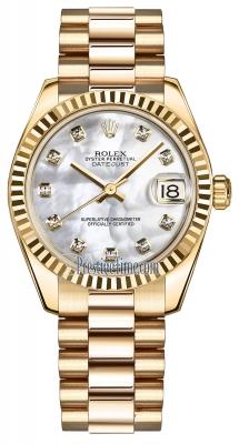 Rolex Datejust 31mm Yellow Gold 178278 MOP Diamond President