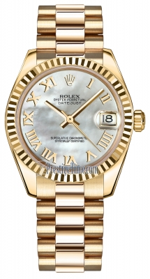 Rolex Datejust 31mm Yellow Gold 178278 MOP Roman President