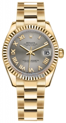 Rolex Datejust 31mm Yellow Gold 178278 Steel Roman Oyster