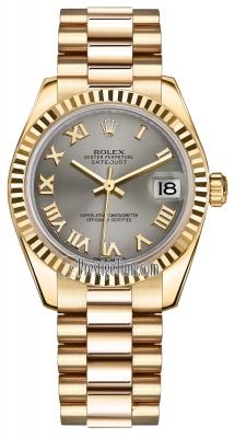 Rolex Datejust 31mm Yellow Gold 178278 Steel Roman President