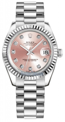 Rolex Datejust 31mm White Gold 178279 Pink Diamond President