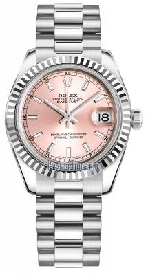 Rolex Datejust 31mm White Gold 178279 Pink Index President