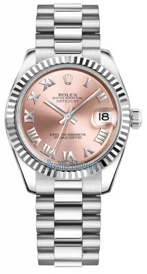 Rolex Datejust 31mm White Gold 178279 Pink Roman President