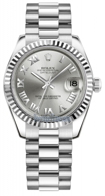 Rolex Datejust 31mm White Gold 178279 Rhodium Roman President