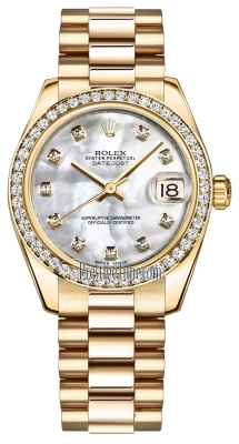 Rolex Datejust 31mm Yellow Gold 178288 MOP Diamond President