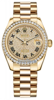 178288 Pave Diamond Black Roman President