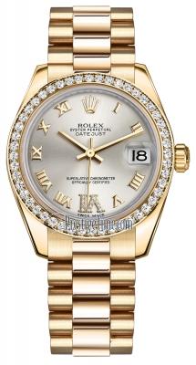 Rolex Datejust 31mm Yellow Gold 178288 Silver VI Roman President