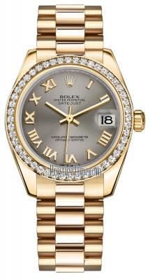 Rolex Datejust 31mm Yellow Gold 178288 Steel Roman President