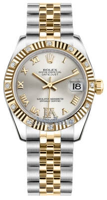 Rolex Datejust 31mm Stainless Steel and Yellow Gold 178313 Silver VI Roman Jubilee