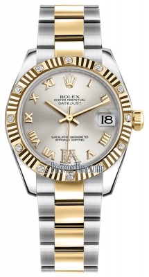 Rolex Datejust 31mm Stainless Steel and Yellow Gold 178313 Silver VI Roman Oyster