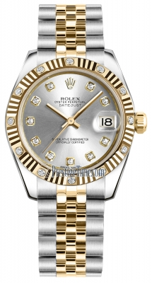 Rolex Datejust 31mm Stainless Steel and Yellow Gold 178313 Silver Diamond Jubilee