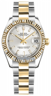 Rolex Datejust 31mm Stainless Steel and Yellow Gold 178313 Silver Index Oyster
