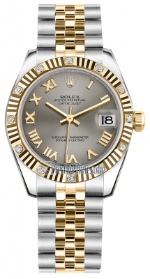 Rolex Datejust 31mm Stainless Steel and Yellow Gold 178313 Steel Roman Jubilee