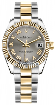 Rolex Datejust 31mm Stainless Steel and Yellow Gold 178313 Steel Roman Oyster
