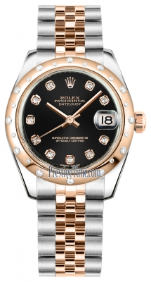 Rolex Datejust 31mm Stainless Steel and Rose Gold 178341 Black Diamond Jubilee