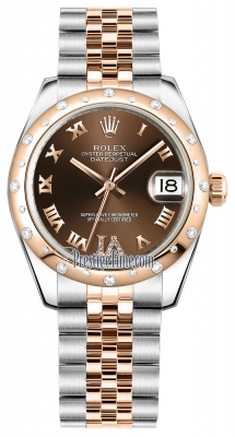 Rolex Datejust 31mm Stainless Steel and Rose Gold 178341 Chocolate VI Roman Jubilee