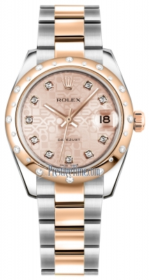 Rolex Datejust 31mm Stainless Steel and Rose Gold 178341 Jubilee Pink Diamond Oyster