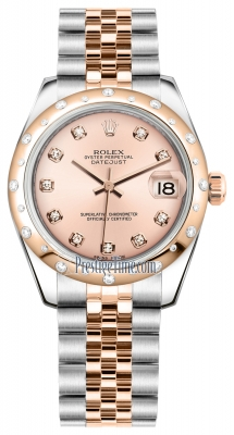 Rolex Datejust 31mm Stainless Steel and Rose Gold 178341 Pink Diamond Jubilee