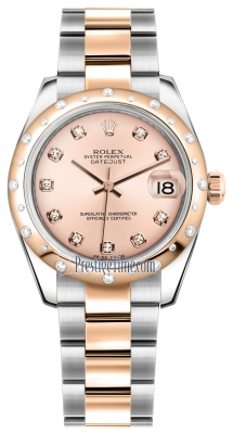 Rolex Datejust 31mm Stainless Steel and Rose Gold 178341 Pink Diamond Oyster
