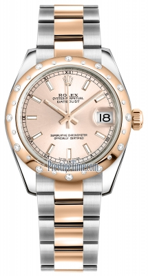 Rolex Datejust 31mm Stainless Steel and Rose Gold 178341 Pink Index Oyster