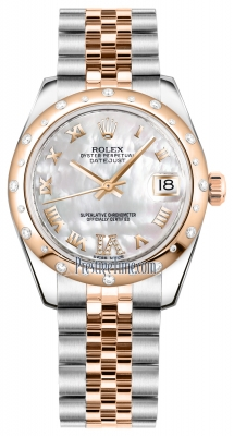 Rolex Datejust 31mm Stainless Steel and Rose Gold 178341 White MOP VI Roman Jubilee