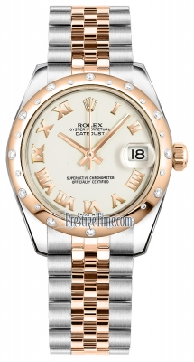 Rolex Datejust 31mm Stainless Steel and Rose Gold 178341 White Roman Jubilee