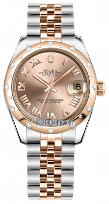 Rolex Datejust 31mm Stainless Steel and Rose Gold 178341 Pink Roman Jubilee