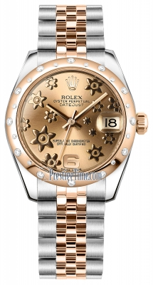 Rolex Datejust 31mm Stainless Steel and Rose Gold 178341 Pink Floral Jubilee