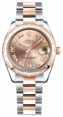 Rolex Datejust 31mm Stainless Steel and Rose Gold 178341 Pink Roman Oyster