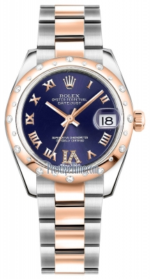 Rolex Datejust 31mm Stainless Steel and Rose Gold 178341 Purple VI Roman Oyster
