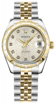 Rolex Datejust 31mm Stainless Steel and Yellow Gold 178343 Jubilee Silver Diamond Jubilee