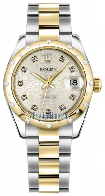 Rolex Datejust 31mm Stainless Steel and Yellow Gold 178343 Jubilee Silver Diamond Oyster