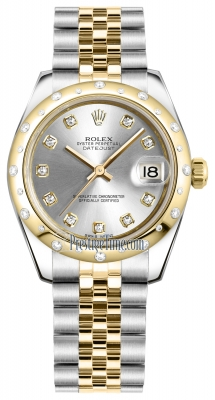 Rolex Datejust 31mm Stainless Steel and Yellow Gold 178343 Silver Diamond Jubilee