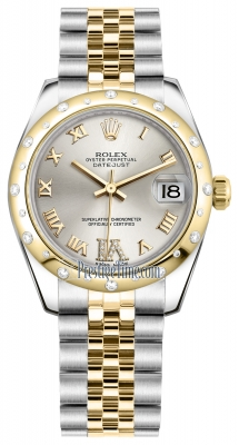 Rolex Datejust 31mm Stainless Steel and Yellow Gold 178343 Silver VI Roman Jubilee