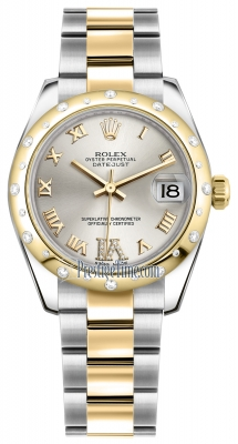 Rolex Datejust 31mm Stainless Steel and Yellow Gold 178343 Silver VI Roman Oyster