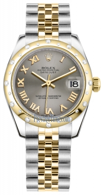 Rolex Datejust 31mm Stainless Steel and Yellow Gold 178343 Steel Roman Jubilee