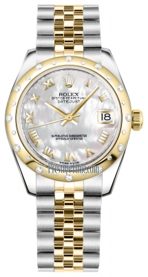 Rolex Datejust 31mm Stainless Steel and Yellow Gold 178343 White MOP Roman Jubilee